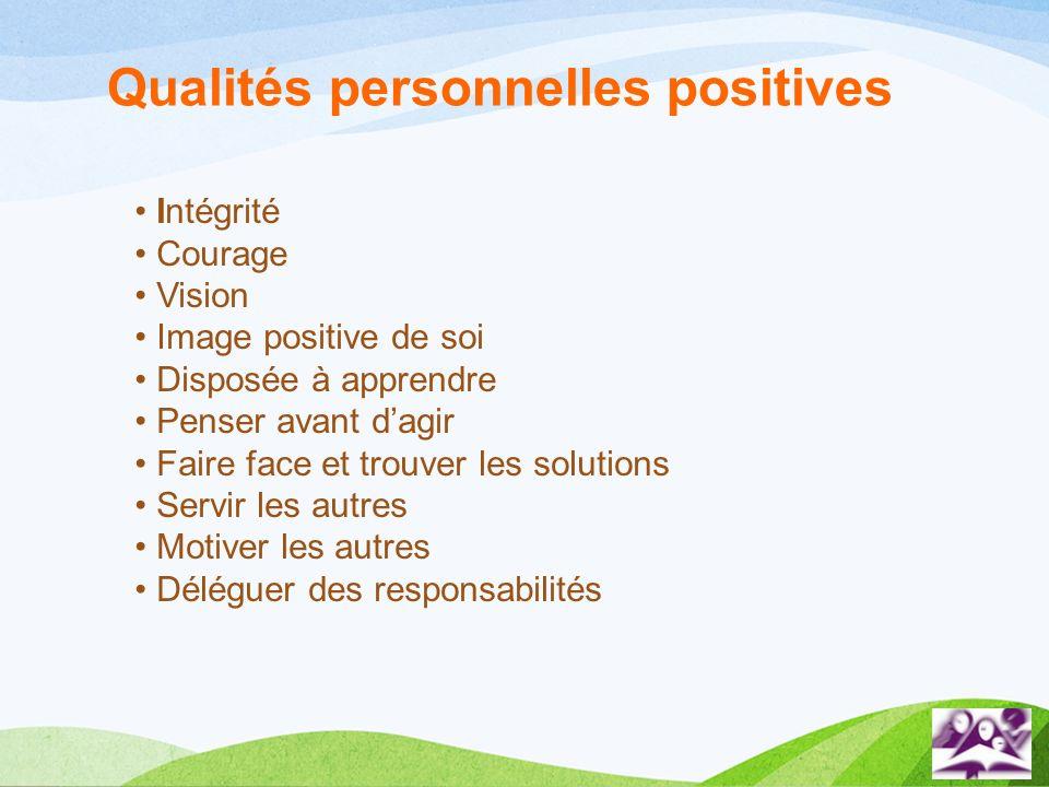 Qualités personnelles positives