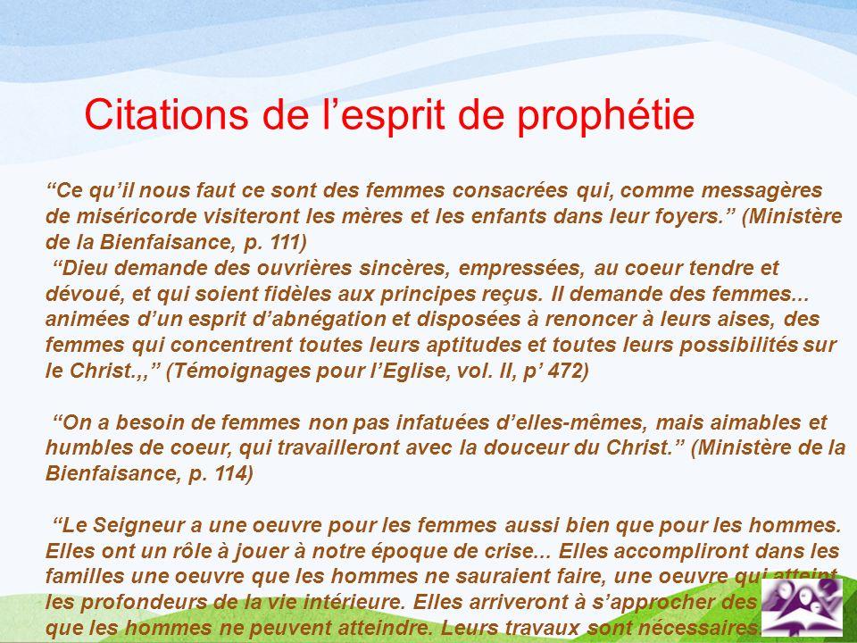 Citations de l'esprit de prophétie
