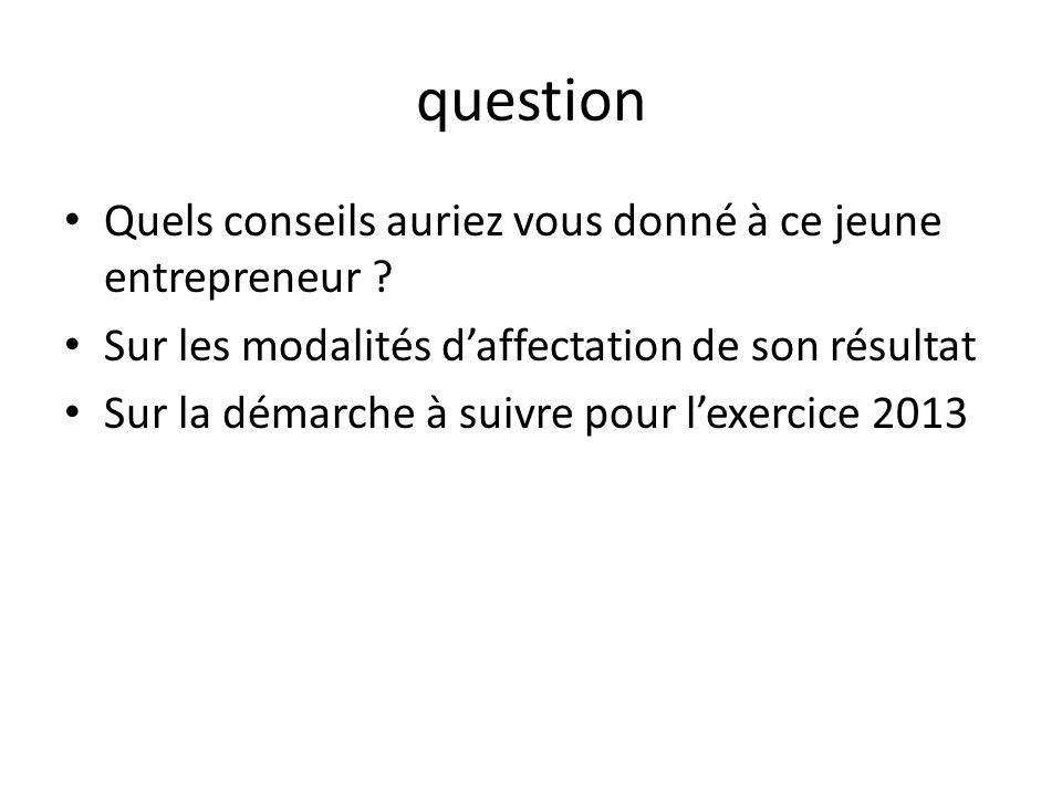 question Quels conseils auriez vous donné à ce jeune entrepreneur