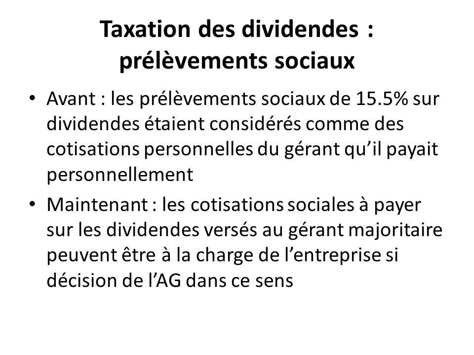 Taxation des dividendes : prélèvements sociaux