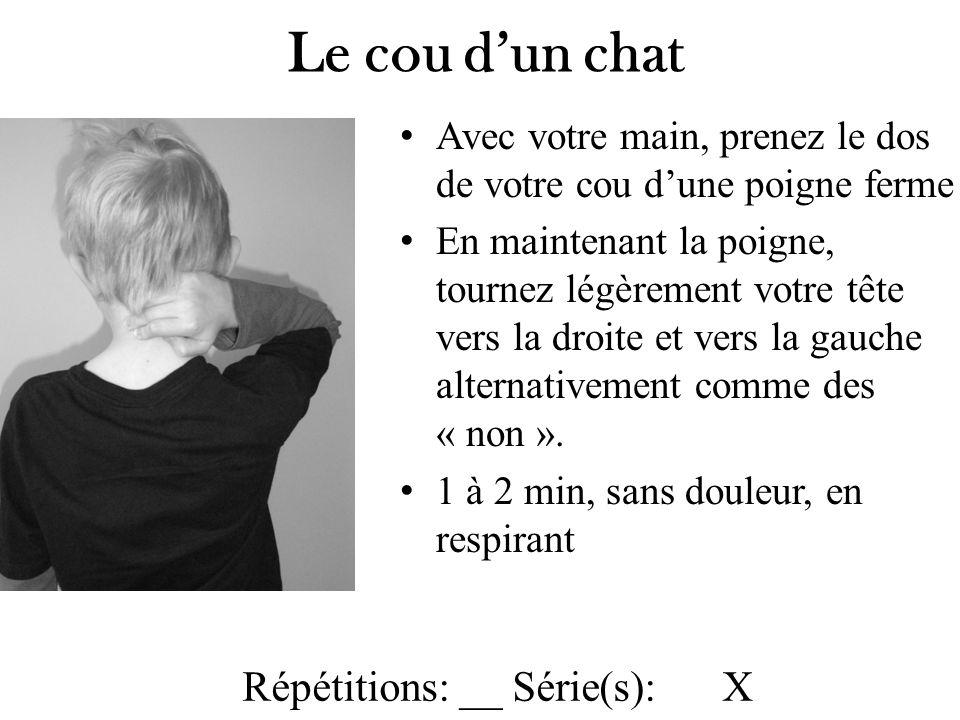Le cou d'un chat Répétitions: __ Série(s): X