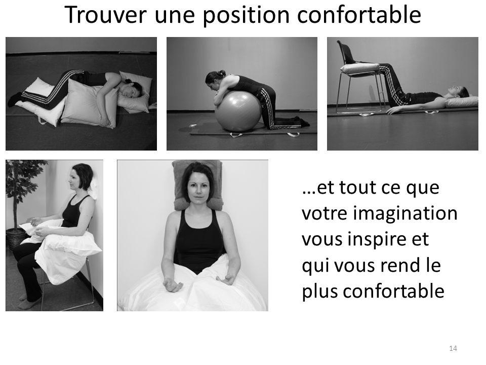 Trouver une position confortable