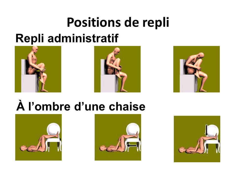 Positions de repli Repli administratif À l'ombre d'une chaise