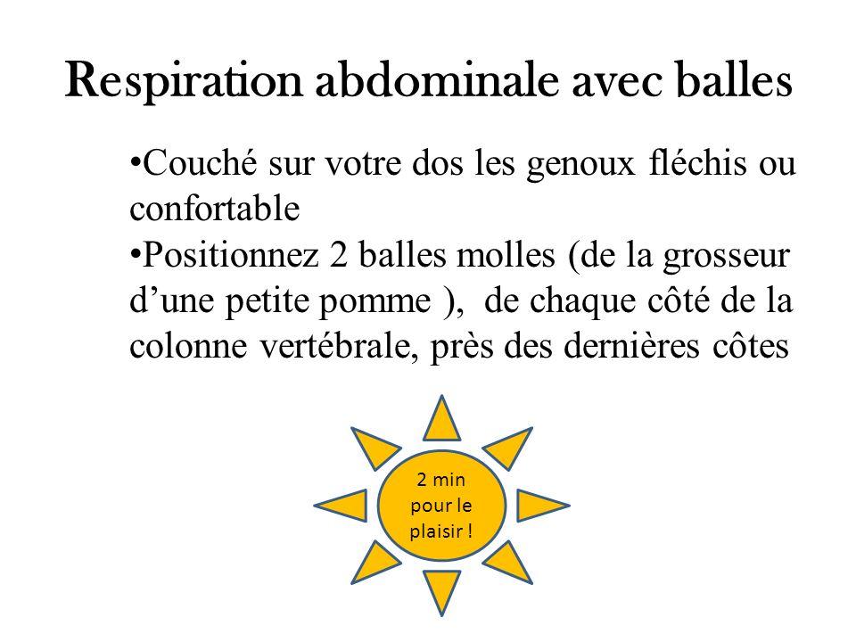 Respiration abdominale avec balles