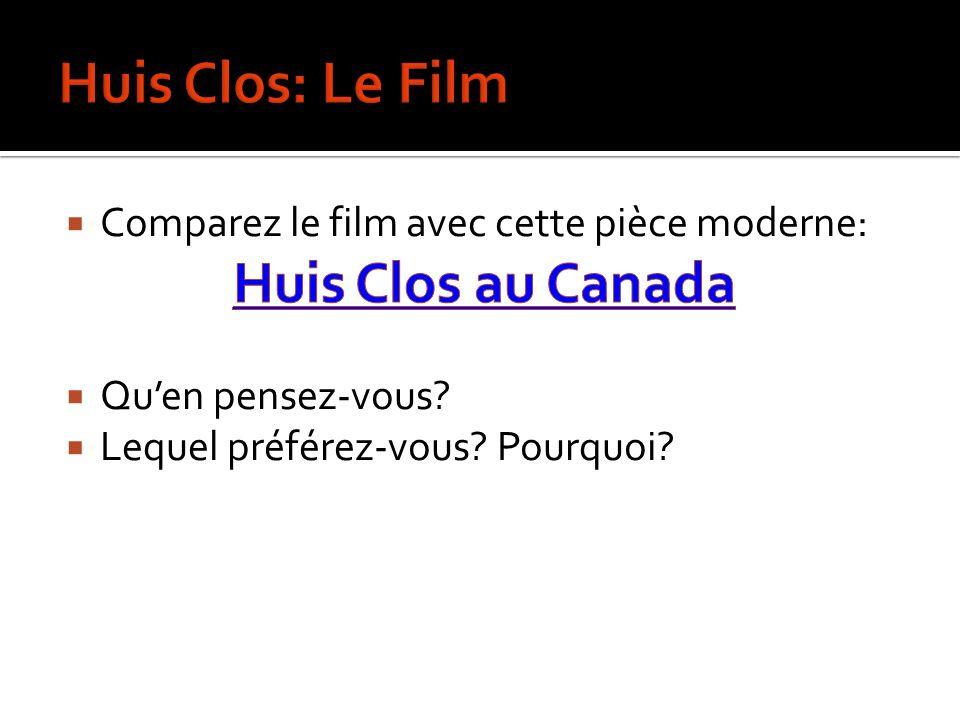 Huis Clos: Le Film Huis Clos au Canada