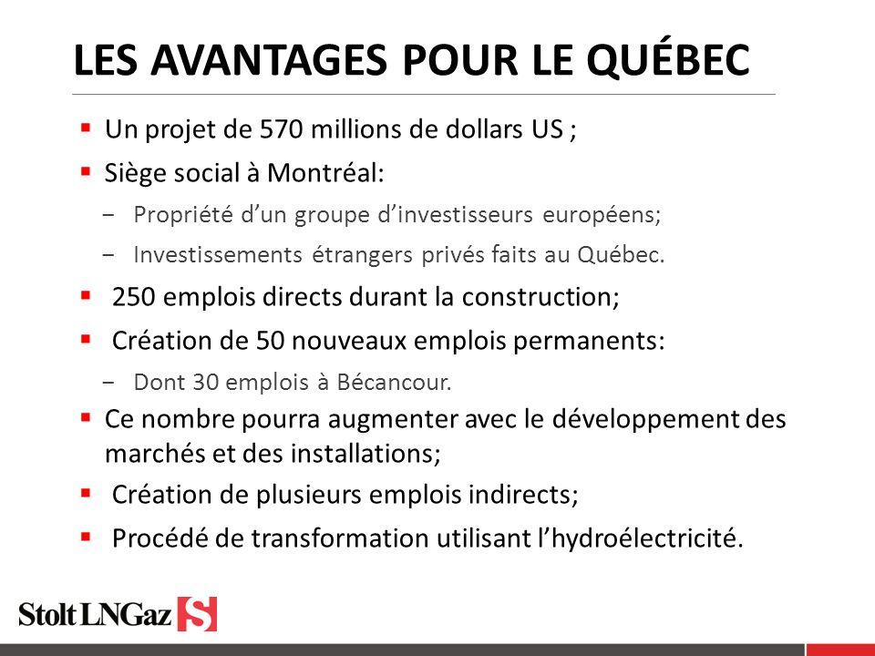 Les avantages pour le Québec
