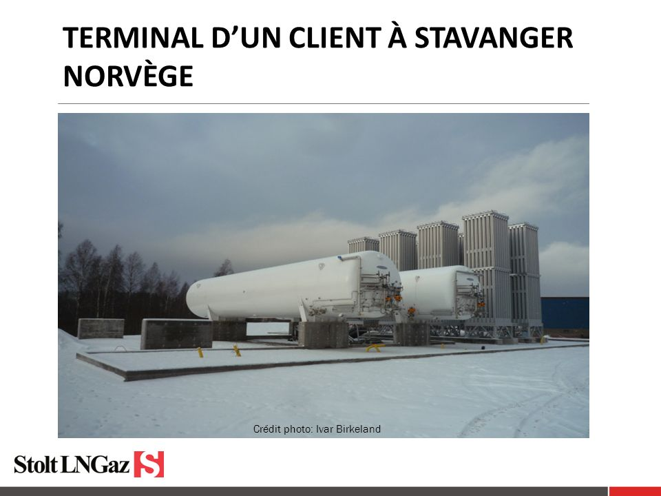 Terminal d'un client à Stavanger norvège