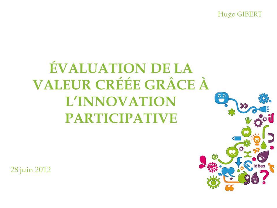 évaluation de la valeur créée grâce à l'innovation participative