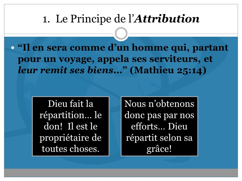 1. Le Principe de l'Attribution