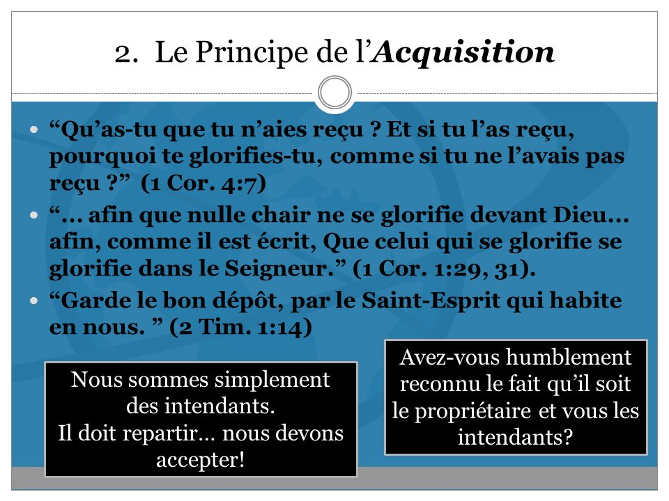 2. Le Principe de l'Acquisition