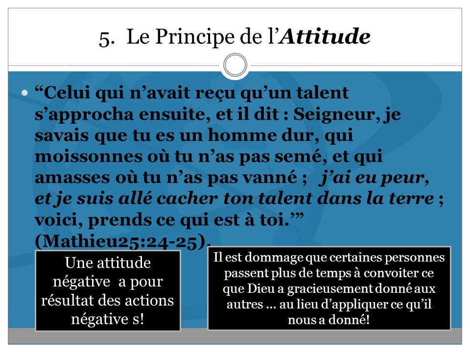 5. Le Principe de l'Attitude