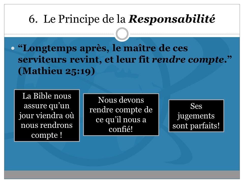 6. Le Principe de la Responsabilité