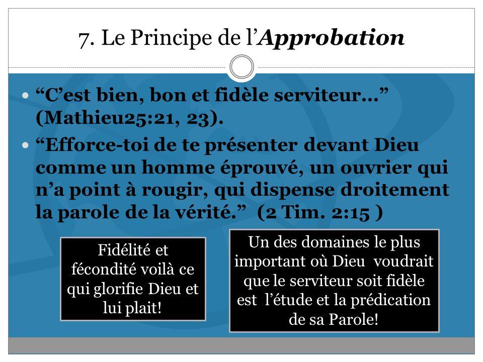 7. Le Principe de l'Approbation
