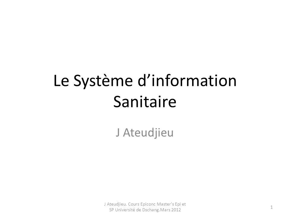 Le Système d'information Sanitaire