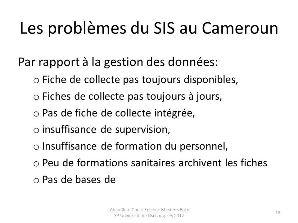 Les problèmes du SIS au Cameroun