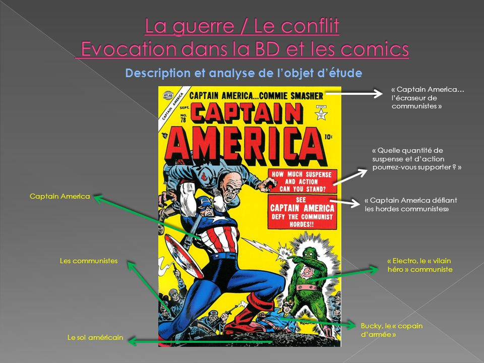 La guerre / Le conflit Evocation dans la BD et les comics