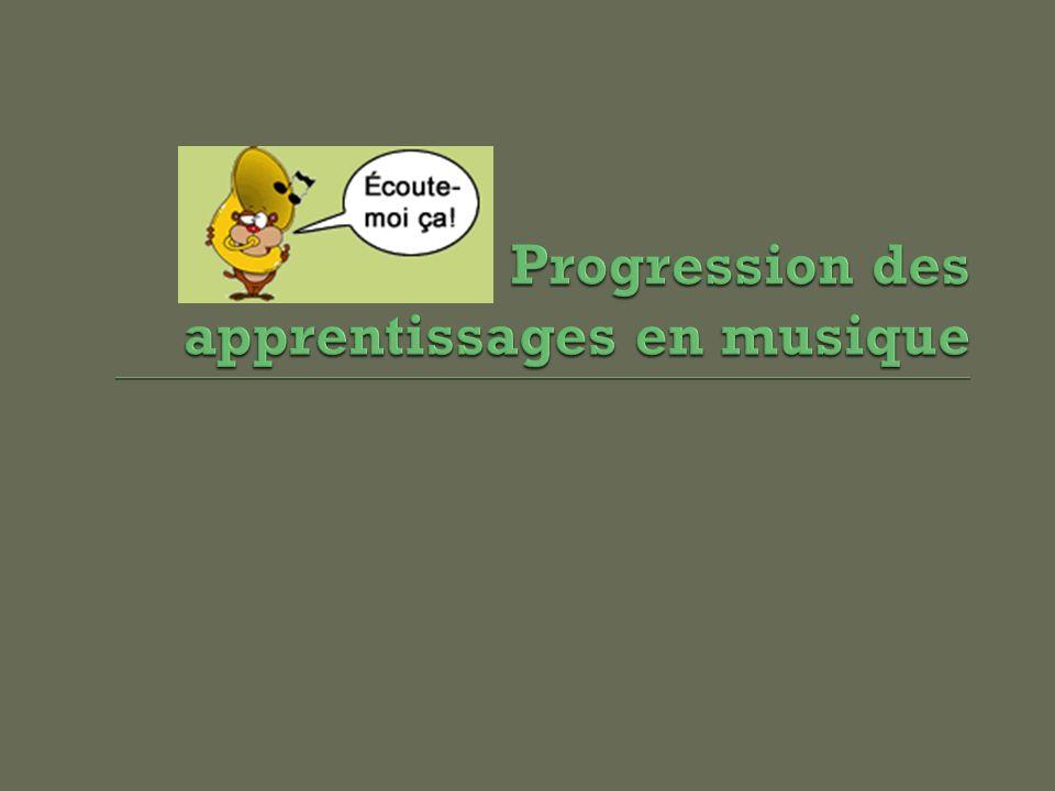 Progression des apprentissages en musique