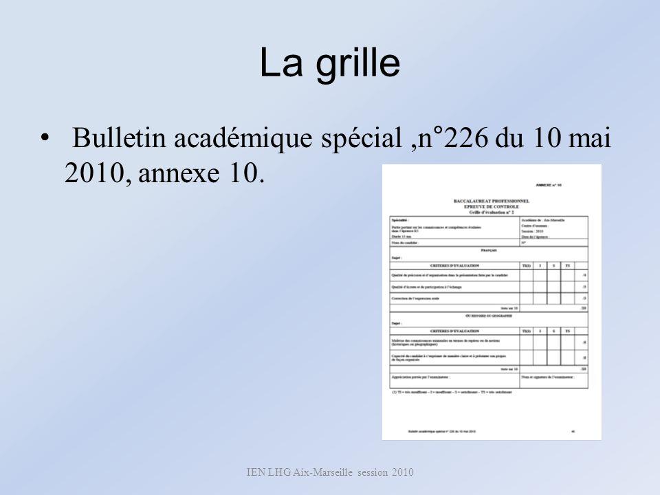 IEN LHG Aix-Marseille session 2010