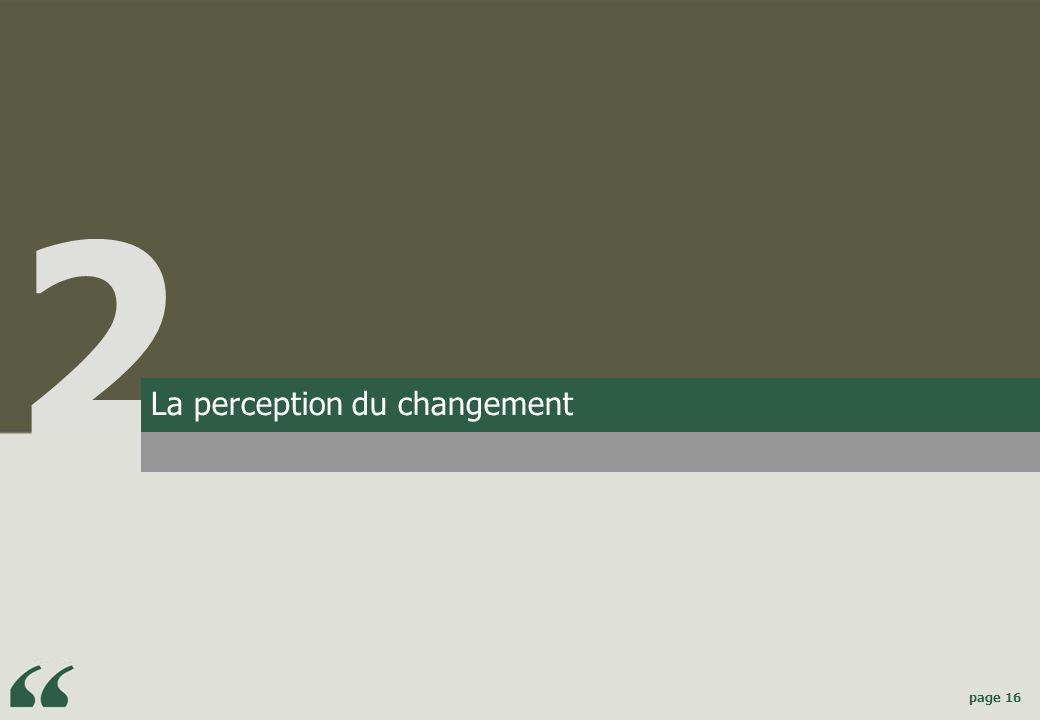 2 La perception du changement