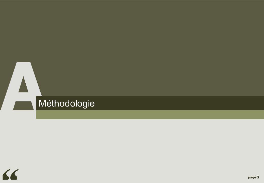 A Méthodologie