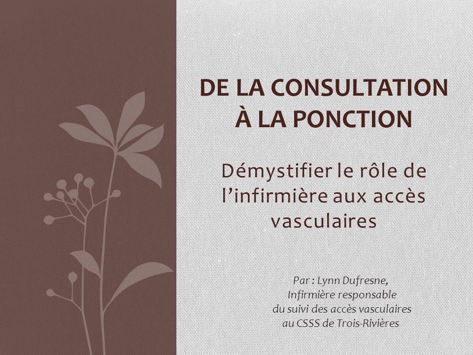DE LA CONSULTATION À LA PONCTION