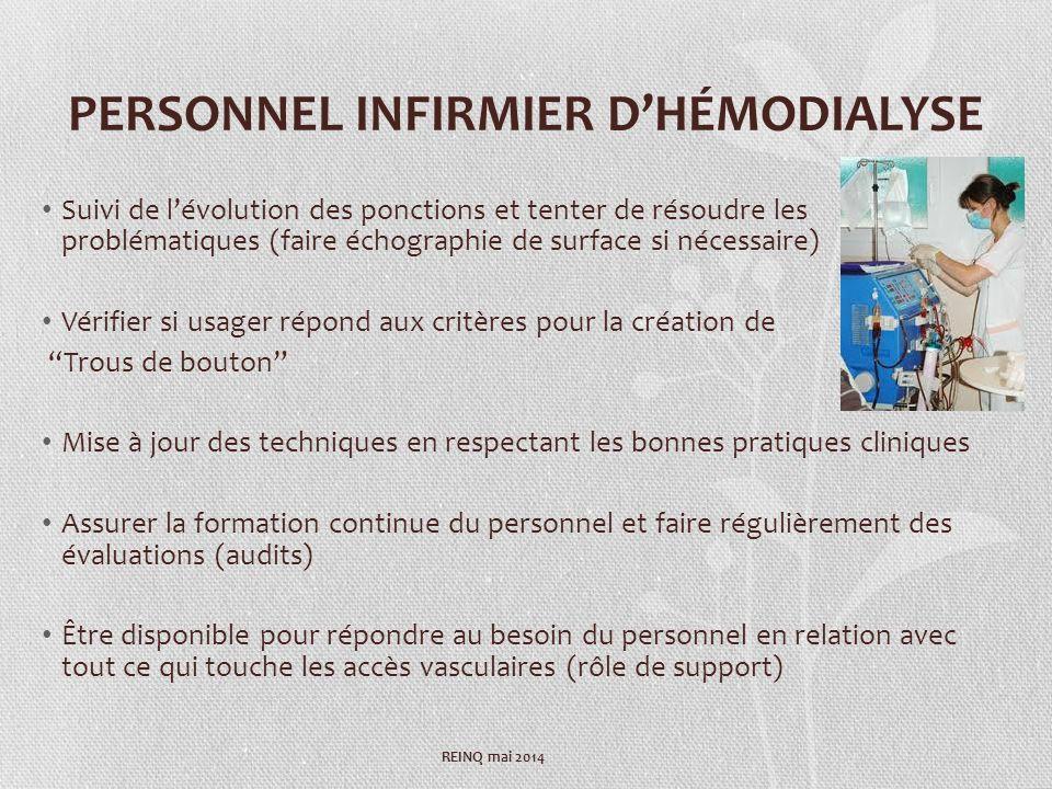 PERSONNEL INFIRMIER D'HÉMODIALYSE