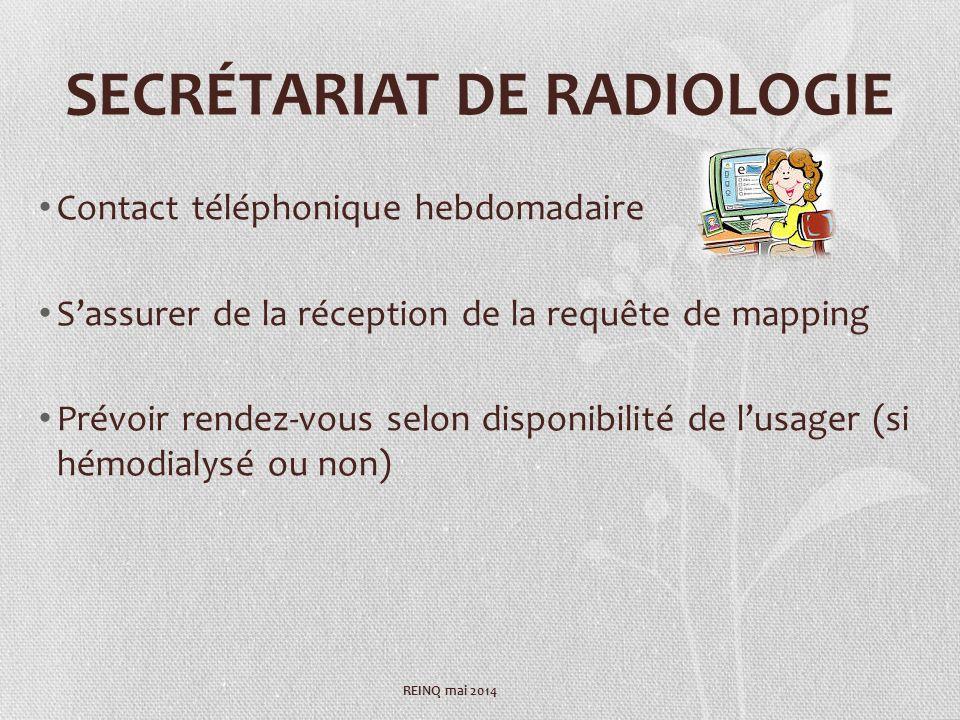 SECRÉTARIAT DE RADIOLOGIE