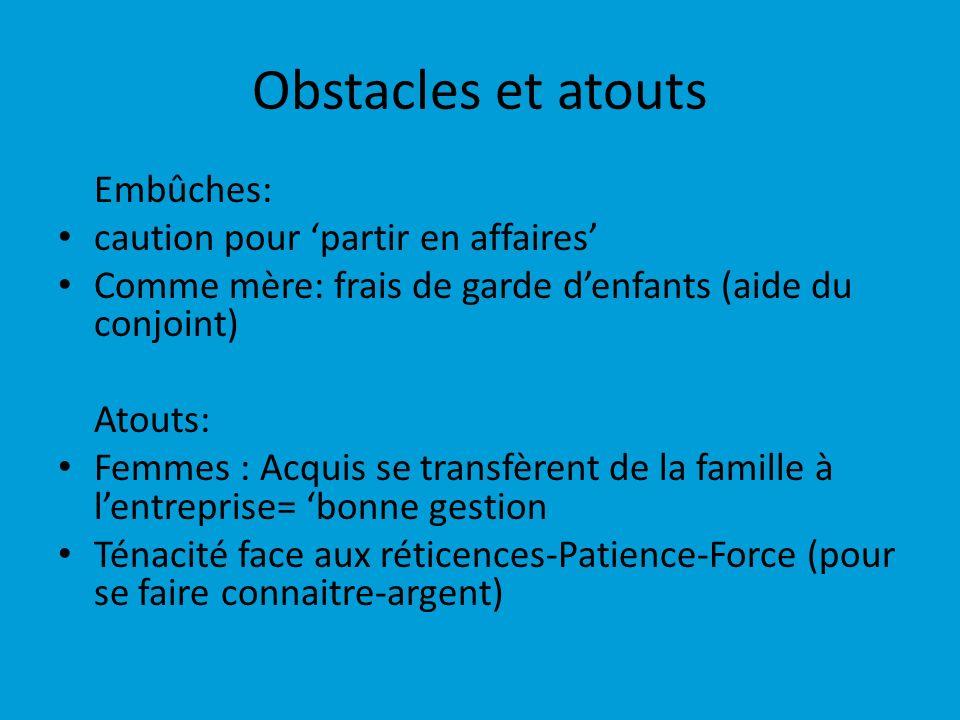 Obstacles et atouts Embûches: caution pour 'partir en affaires'