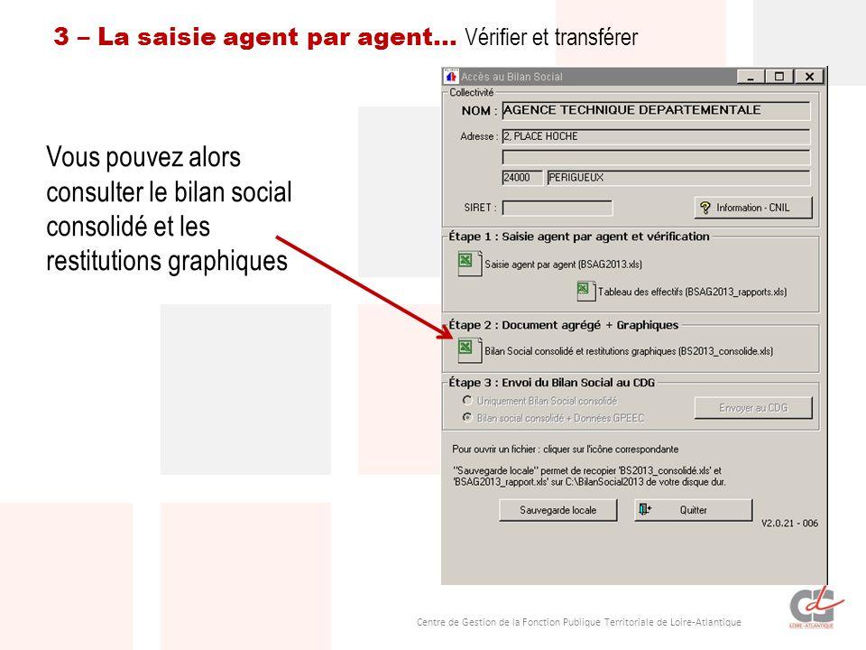 3 – La saisie agent par agent… Vérifier et transférer