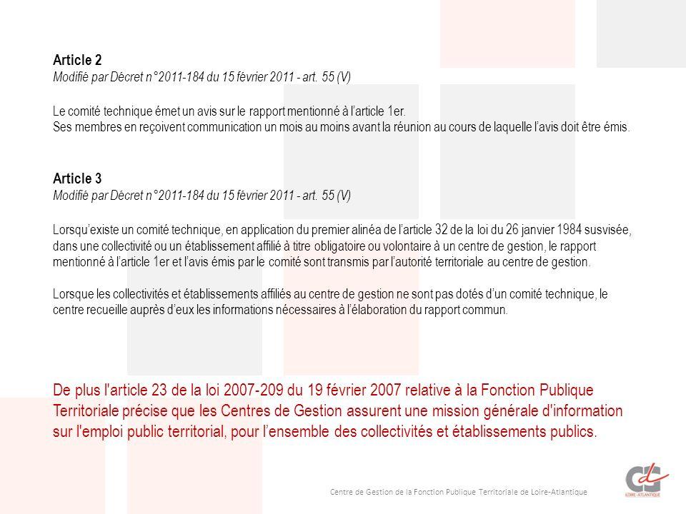 Article 2 Modifié par Décret n°2011-184 du 15 février 2011 - art. 55 (V)