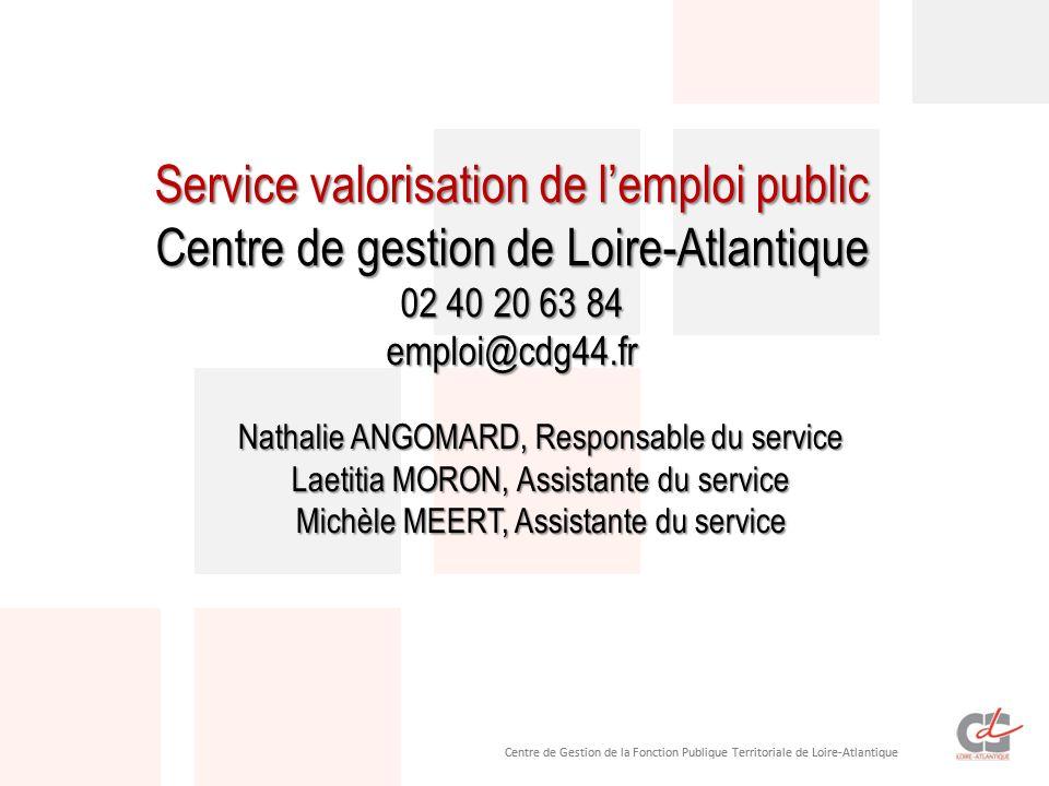 Service valorisation de l'emploi public