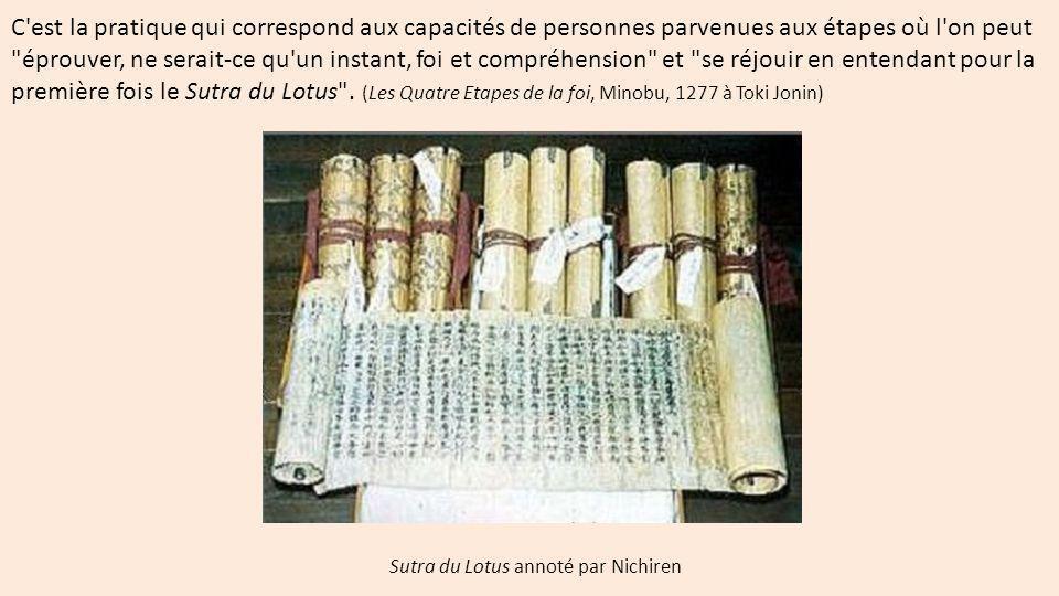 Sutra du Lotus annoté par Nichiren