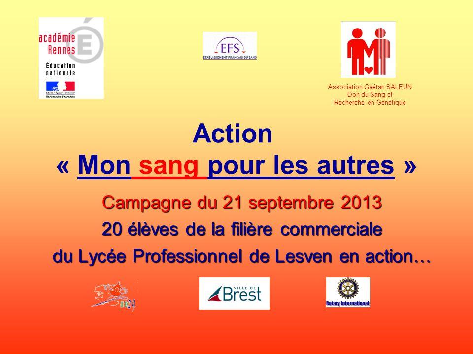 Action « Mon sang pour les autres »