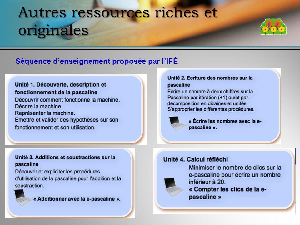 Autres ressources riches et originales