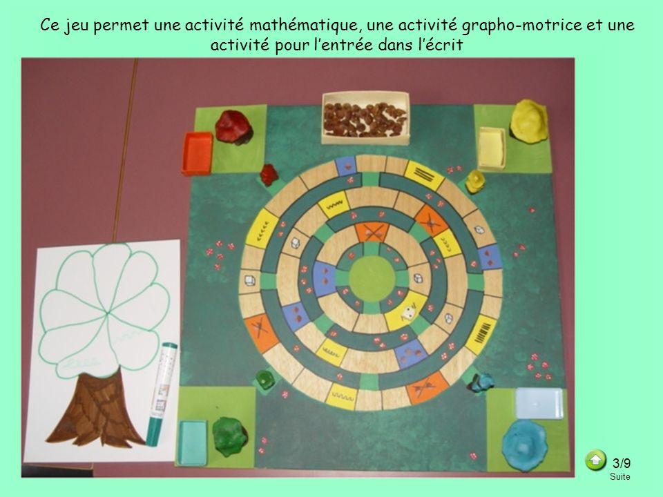 Ce jeu permet une activité mathématique, une activité grapho-motrice et une activité pour l'entrée dans l'écrit