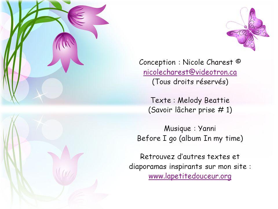 Texte : Melody Beattie (Savoir lâcher prise # 1)