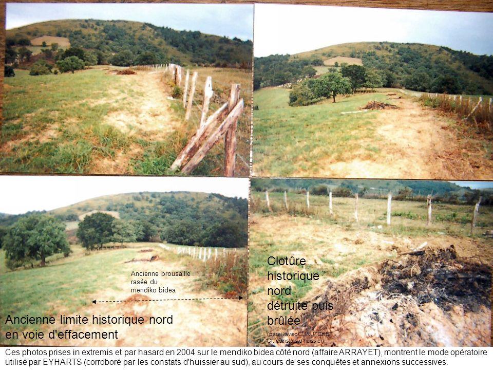Clotûre historique nord détruite puis brûlée