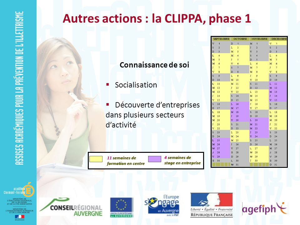 Autres actions : la CLIPPA, phase 1