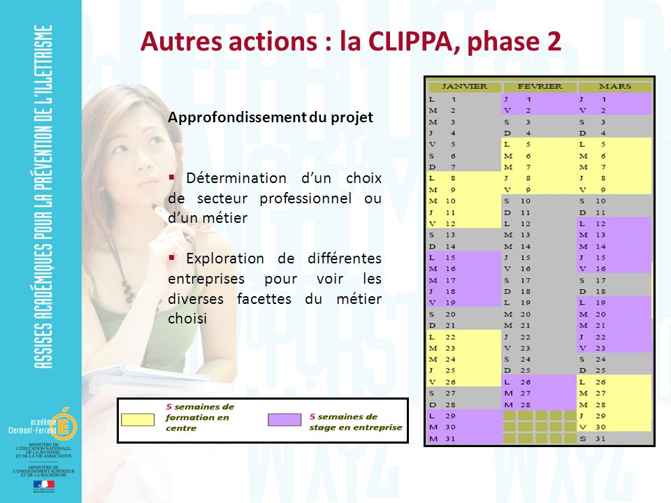 Autres actions : la CLIPPA, phase 2