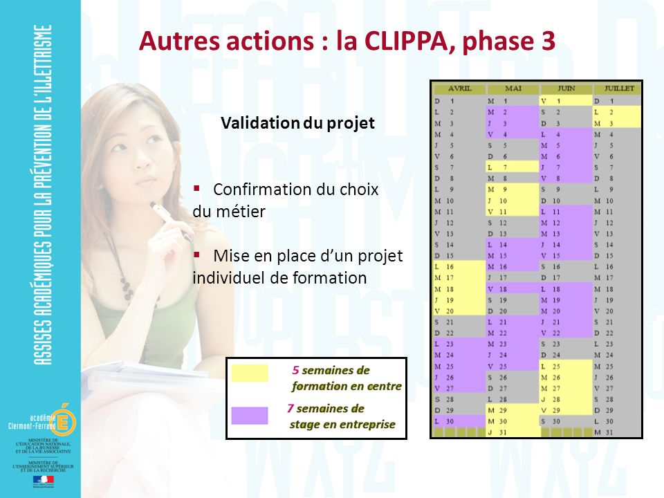 Autres actions : la CLIPPA, phase 3