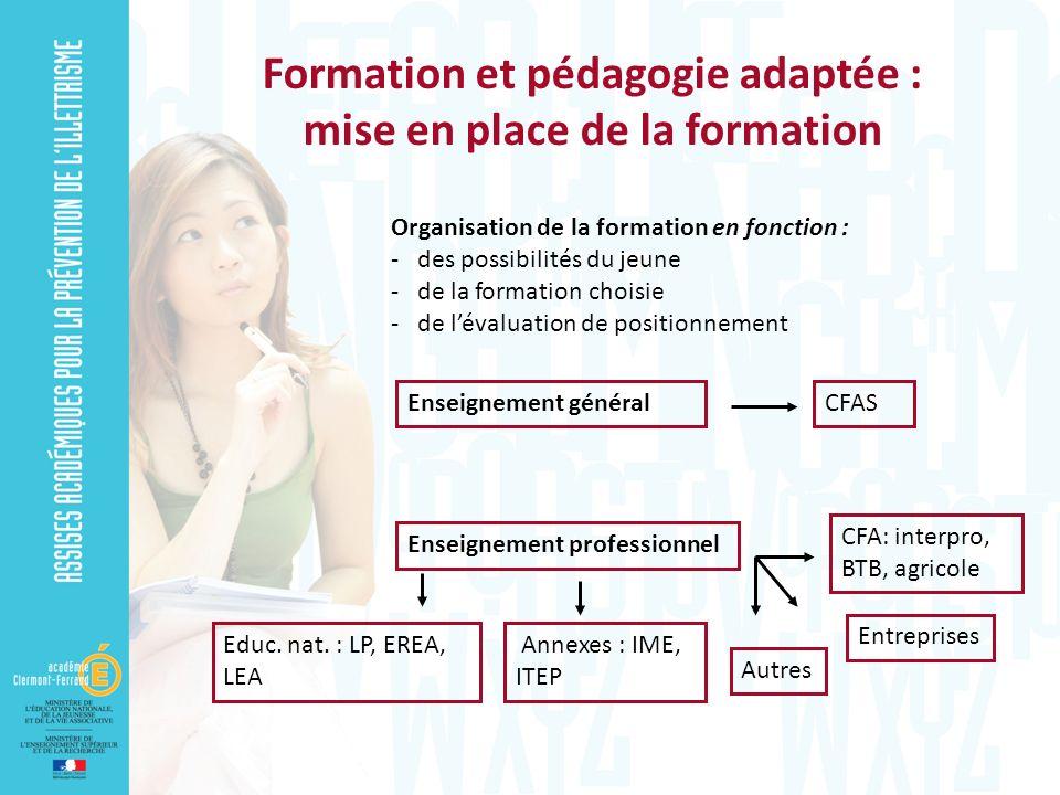 Formation et pédagogie adaptée : mise en place de la formation