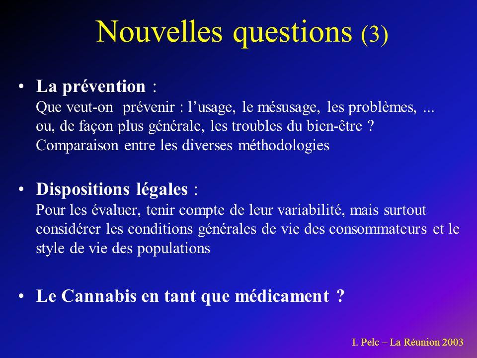 Nouvelles questions (3)
