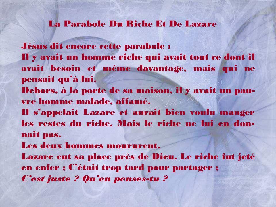 La Parabole Du Riche Et De Lazare