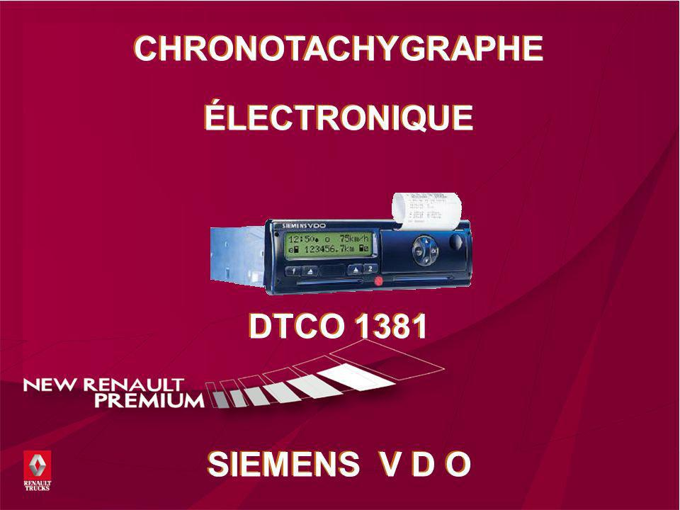 CHRONOTACHYGRAPHE ÉLECTRONIQUE DTCO 1381 SIEMENS V D O