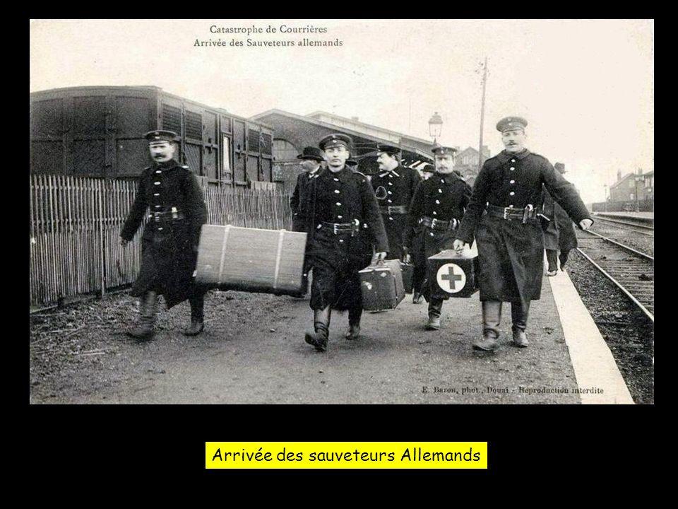 Arrivée des sauveteurs Allemands