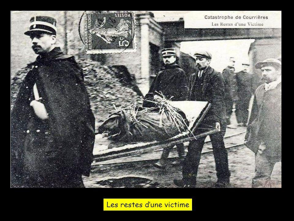 Les restes d'une victime