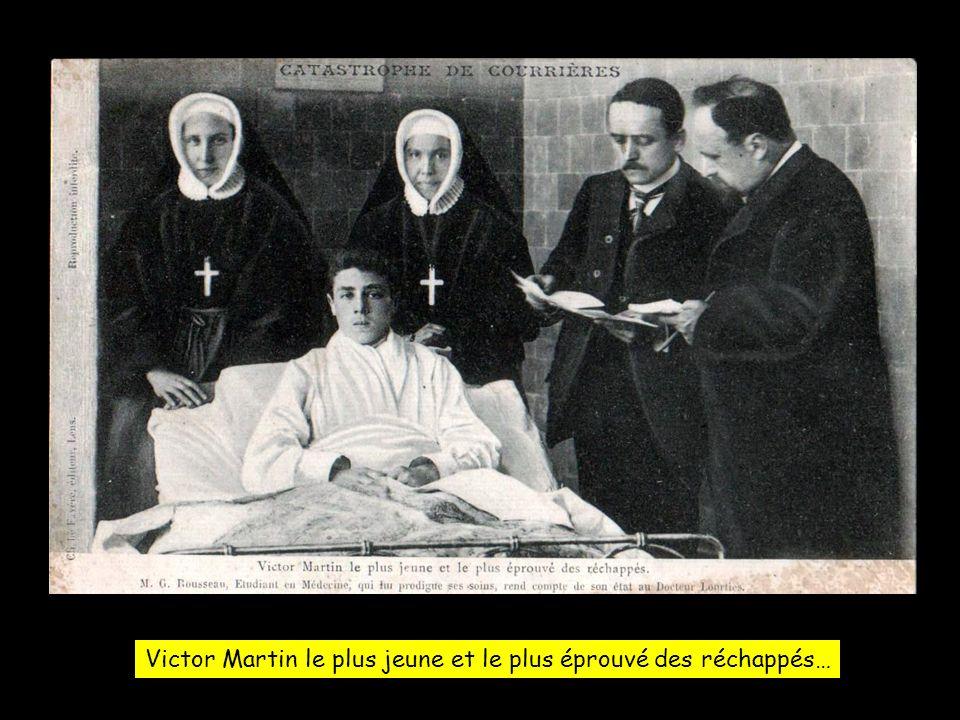 Victor Martin le plus jeune et le plus éprouvé des réchappés…
