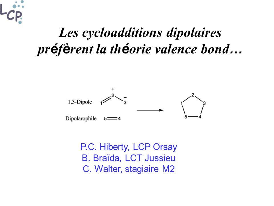 Les cycloadditions dipolaires préfèrent la théorie valence bond…