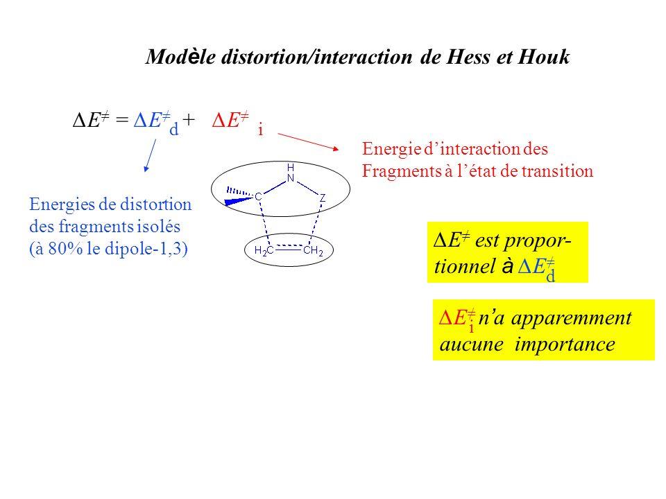 Modèle distortion/interaction de Hess et Houk
