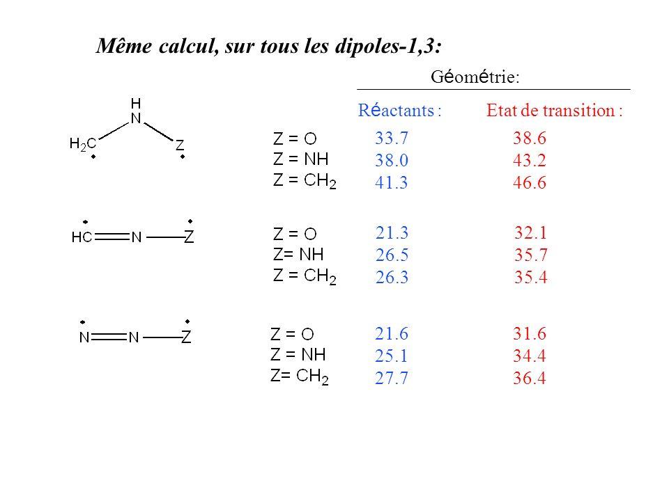 Même calcul, sur tous les dipoles-1,3: